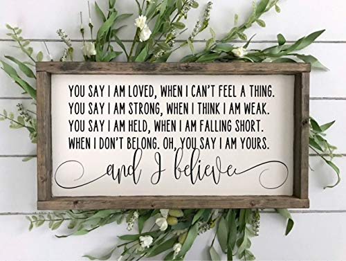 DASON You Say Lyrics Sign Lauren Daigle SignLauren Daigle LyricsChristian Music LyricsWedding SignChristian Quote Sign