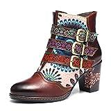gracosy Donna Stivaletti in Pelle, Scarpe da Neve Invernali Stivali con Tacco Alto Boots E...