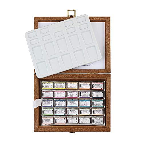Schmincke : Horadam Watercolour : Wood Box Set of 24 Full Pans