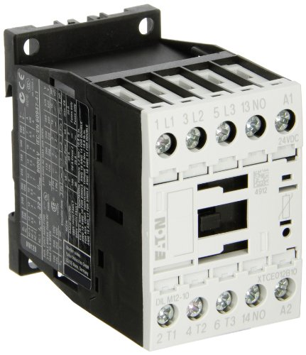 EATON DILM12-10(24VDC) Serie DILM12-10 Contactor, 3P 5.5 kW, AC-3, 24V DC
