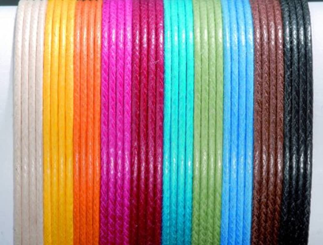 Glorex Cotton Wax Cord 1?mm/5?m, Cotton, Blue, 9.5?x 5.5?x 1?cm