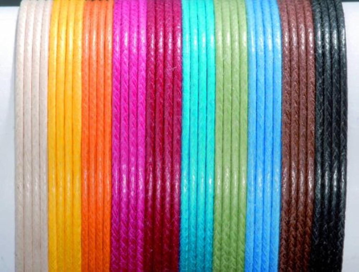 Glorex Cotton Wax Cord 1?mm/5?m, Cotton, Black, 8.5?x 5.5?x 1?cm