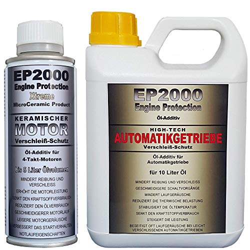 Röde-Technik EP2000 Motor & Automatikgetriebe-Additiv [Set] (Motor: 250 ml (für 5 l Öl), Automatikgetriebe: 1 l (für 10 l Öl))