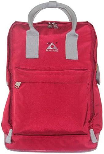 XBDOT Multi-Fonction Sac à Dos Chaise Pliante Tabouret De Siège Extérieur Sac à Dos Sacs Camping Chaise Pliante Six Couleurs Polyester,rouge