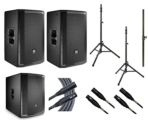 Fantastic Prices! 2x JBL PRX812W + JBL PRX818XLFW + 2x Ultimate TS-100B + Mogami Cables + Pole