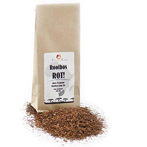 Rooibos-Tee Bio ROT von TeeVomKap®, 250 g (0,25 kg), Premium Qualität (lange lose Blätter), Roibusch-Tee, Rotbusch-Tee