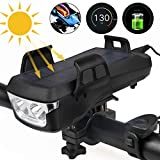 Nerplro Bike Phone Mount USB recargable Bike Light Set Ajustable Bicicleta Titular Manillar Bicicletas Faro, Construido en 4000mA Teléfono Celular Power Bank