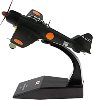 LoveinDIY Japanese Mitsubishi A6M3 Zero - 1940 1:72 Metal Die-cast Airplane, Includes Alloy Stand