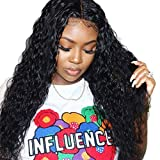 13x6 Lace Frontal Wigs Human Hair Pre Plucked Water Wave Wig 130% Density Glueless Wig Indian Remy Hair Wig Free Part Same Day Delivery 14 Inch