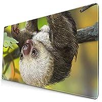 マウスパッド かわいい赤ちゃんナマケモノ動物 超大型 ゲーミングマウスパッド おしゃれ 防水 滑り止め 耐久性が良い