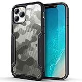 ZUSLAB Compatible con Apple iPhone 12 Pro MAX Funda Armor Shield 2020, Transparente Protector TPU Bumper Case - Negro&Camuflaje Negro