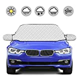 HOKEKI Car Windscreen Cover Snow Cover Magnetic Screen Cover Windshield Snow Protector Sunshade Ice and Frost Guard Waterproof Dust Cover Fit for Cars All Years Summer/Winter with Two Mirror Covers