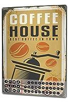 カレンダー Perpetual Calendar Kitchen coffee house Tin Metal Magnetic