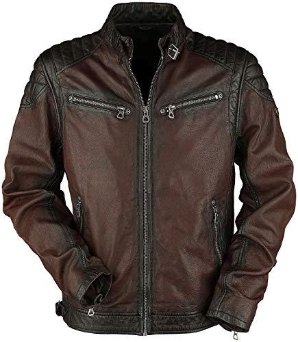 Gipsy Colt W18 Lasanv Männer Lederjacke rotbraun XXL 100% Leder Basics, Biker