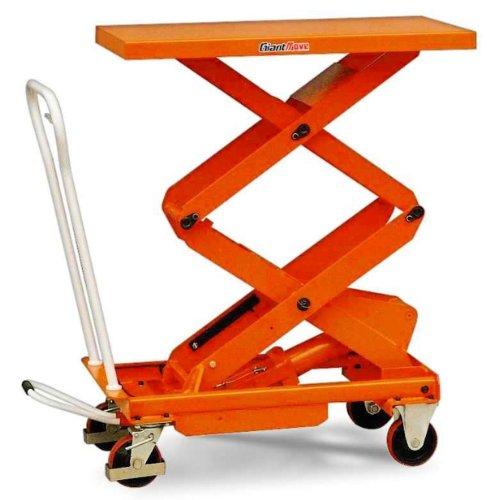 Giant Move MH-E50 Steel Double Scissor Hydraulic Lift Table, 1100 lbs Capacity, 40