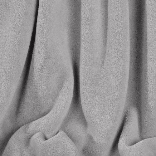 Berkshire Serasoft Plus Plush Polyester Blanket, Grey Full/Queen