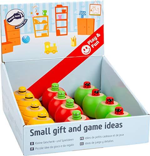 Small Foot 11570 Display Steh-Auf Insekten mit Sound aus Holz, Biene, Raupe und Marienkäfer als Mitbringsel für Kinder Spielzeug