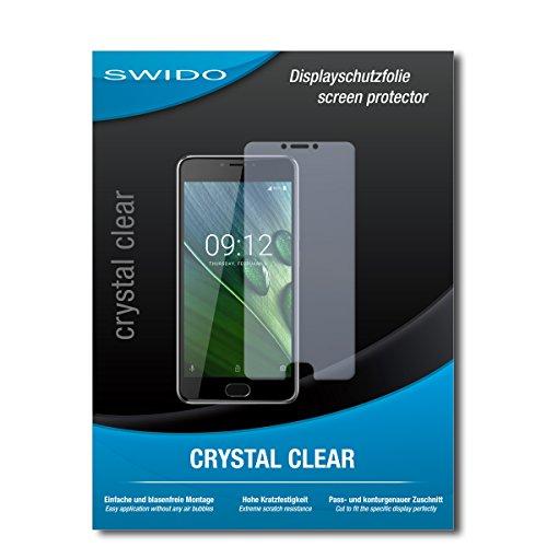 SWIDO Schutzfolie für Acer Liquid Z6 Plus [2 Stück] Kristall-Klar, Hoher Festigkeitgrad, Schutz vor Öl, Staub & Kratzer/Glasfolie, Bildschirmschutz, Bildschirmschutzfolie, Panzerglas-Folie