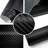 Rapid Teck 5,92€/m² 3D Carbon Autofolie Schwarz 2m x 1,52m flexieble Car Wrapping Folie mit Luftkanälen