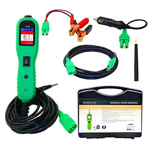 CONRAL Stromkreisprüfer Stromprüfkopf Kit, Auto Selbstdiagnosescan Tool mit Schalter, elektrischer Spannungsprüfer, LCD Farbdisplay, Digitale Spannungsmesswerkzeuge
