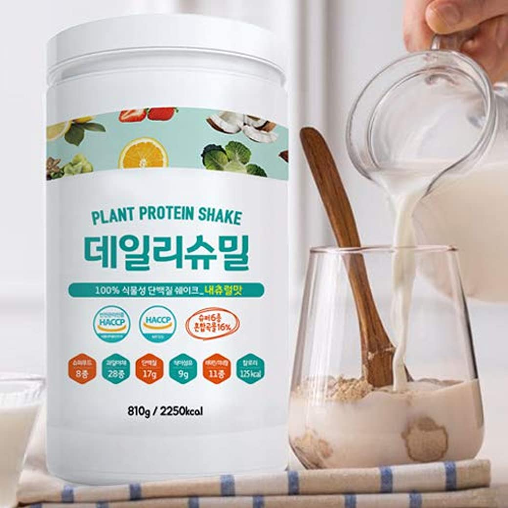 ミッション多数の波紋デイリーシュミル (DailySumeal) ◎韓国 ランキング1位◎ 植物性原料100% タンパク質 シェイク + スーパーフードシェイク 810g (ナチュナル,ココア)
