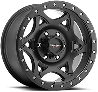 Walker Evans 501SB Legend Satin Black X-LOK Lip Wheel with Painted Finish (17 x 8.5 inches /5 x 5 inches, 1 mm Offset)