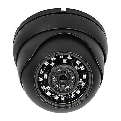 Cámara de seguridad tipo domo, HD AHD 1080P Fácil de instalar Cámara domo de ángulo ajustable de 360 grados Carcasa de hierro para automóvil para camiones para autobuses(negro)