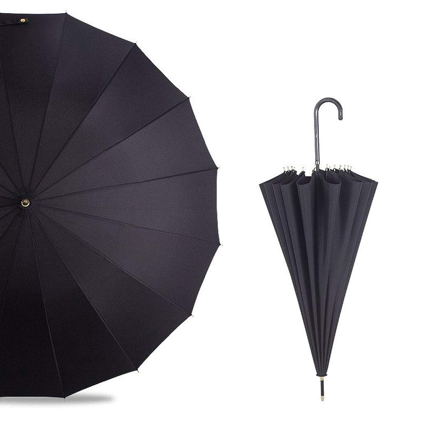 アイドル用心深いフォーカスDCCRBR 傘まっすぐな傘長いハンドル傘曲がったハンドルハンドルソフトで厚いグリップ快適な強化防風フレーム速乾80 CM×5.0 CMブラック 防水傘