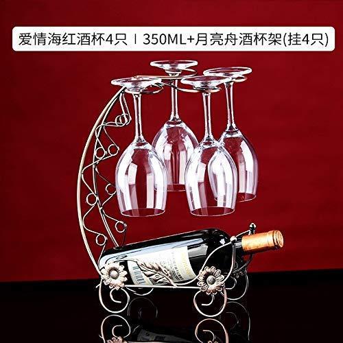 Tazza di vetro tazza vestito casa vino rosso dall'Europa con champagne vino dimensioni lanciatore testa portabicchieri cristallo: bicchiere di vino rosso 4 || Moon Boot possessori 4 tazza