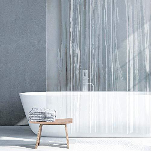 """Guiffly Duschvorhang Liner, Wasserfeste PEVA Badvorhänge mit 12 Haken, 72""""x72""""(180x180cm)"""