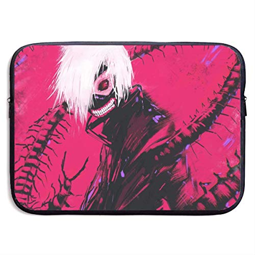 Hdadwy Anime Tokyo Ghoul Red Eyes Laptop Sleeve Bag 15 Inch Tablet Briefcase Ultra Portable Protective, Laptop Canvas Cover MacBook Air, MacBook Pro, Notebook Computer Sleeve Case
