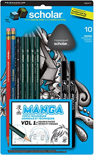 Prismacolor Scholar Manga Drawing Set, 10 Piece Kit (1822417)