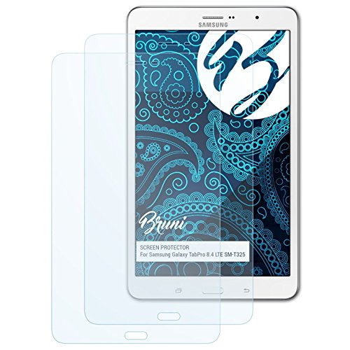 Bruni Schutzfolie kompatibel mit Samsung Galaxy TabPro 8.4 LTE SM-T325 Folie, glasklare Displayschutzfolie (2X)