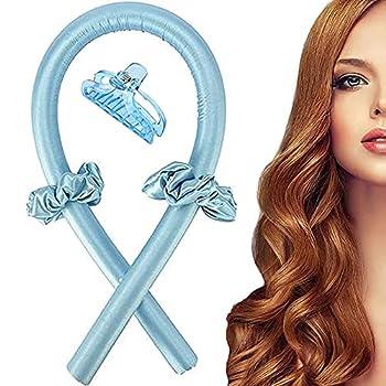 Heatless Hair Rollers Curling Rod Headband No Heat Hair Curlers Curls Silk Curling Ribbon Headband Tiktok popular hair roller