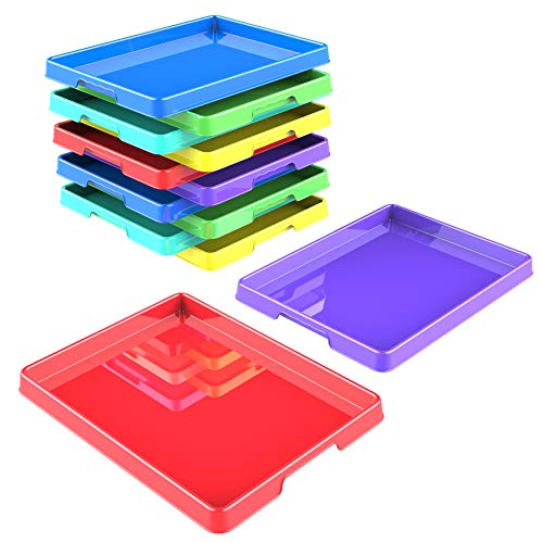 Storex Sorting and Crafts Tray, 12 x 16 Inches, Assorted Colors, 12-Pack (00440E12C)