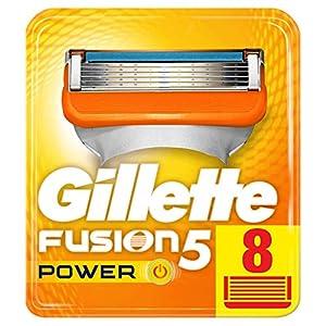 Gillette Fusion Power–Cuchillas de afeitar para hombres, 8cuchillas de repuesto