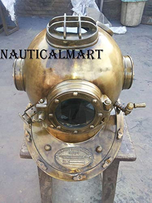 NAUTICALMART Antique Scuba SCA Divers Diving Helmet US Navy Mark V Deep Sea Marine Diver 18 ''