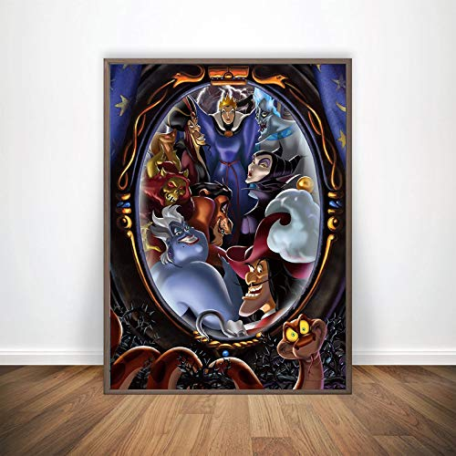 Disney Villains Poster Disney Villains Art Wall Poster Disney Villains Poster Design Deer Design Art Home Decor Wall Decoration Gift for Her (Large II (24x36))