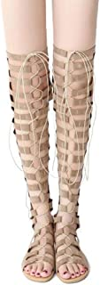 Women's Shoes Lace Up Boots Sexy,Beige,35