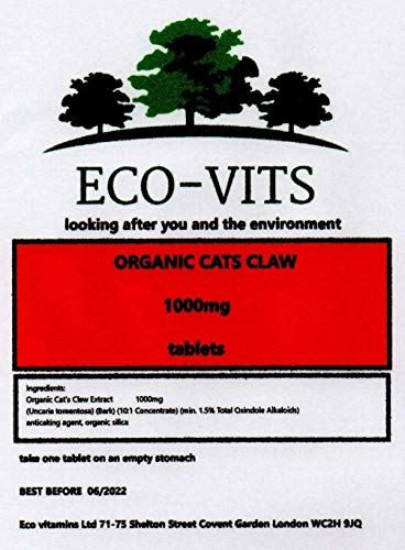 Organic Cats Claw Extract (1000MG) 365 TABS