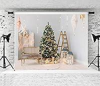 パーティーの装飾写真の背景写真のクリスマスの背景Firelpaceウィンドウ冬の雪の背景Photocallクリスマスツリー家族パーティービデオ小道具