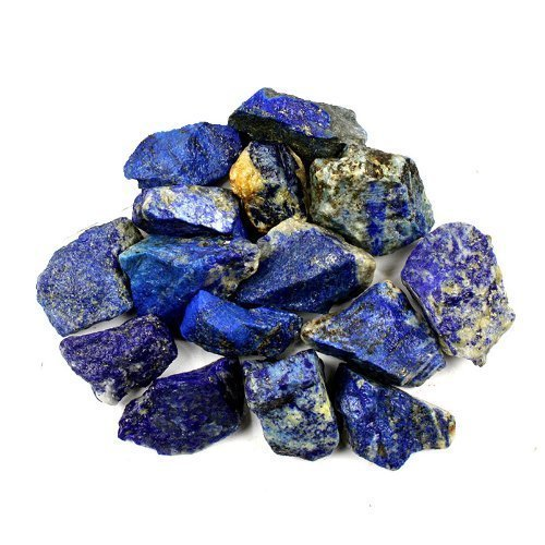 Bingcute 1Lb Bulk Raw Rough Lapis Lazuli Stones Raw Natural Stones For Tumbling,Cabbing,Polishing,Wire Wrapping,Gem Mining, Wicca And Reiki Crystal Healing-Large 1&Quot;-1.5&Quot;