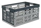 Lot de 3x 45litre Extra Fort pliable Boîtes de rangement caisses empilables–45kg Capacité de charge par boîte–Poignées souples–Bon Rapport Qualité/prix