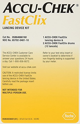 Premium-USA ACCU-Chek Fastclix Lancing & Lancets Device 1 Diabetes Testing Kit with Drum