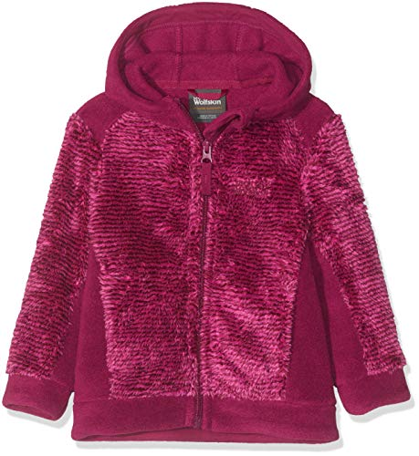 Jack Wolfskin Kinder Pine Cone Jacket Kids Fleecejacke, Fuchsia Stripes, 164