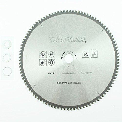 315 x 30mm HM NE Metall Kreissägeblatt 100Z 3 Reduzierringe Alu Kunststoff EisenReduzierringe