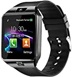 Smart Watches DZ09 with Bluetooth, Sim Card (4G Supported) Health and Fitness Tracker Smart Watches for Men Boys and Girls (smartwatch) - Black
