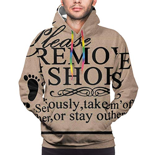 Please Remove Your Shoes Youth 3D Printed Hooide Sweatshirt with Pocket L