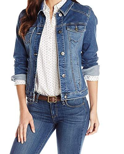 Wrangler Authentics Women's Stretch Denim Jacket, Weathered, X-Large