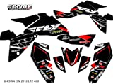 Senge Graphics Kit compatible with Suzuki 2003-2008 LTZ 400, 13 Fly Racing Black Graphics Kit with blank number plates